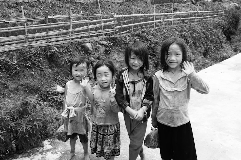 Hmong children in Sapa, Vietnam