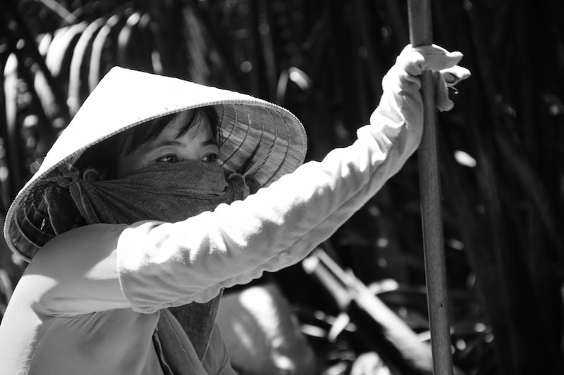 Vietnamese woman in the Mekong Delta