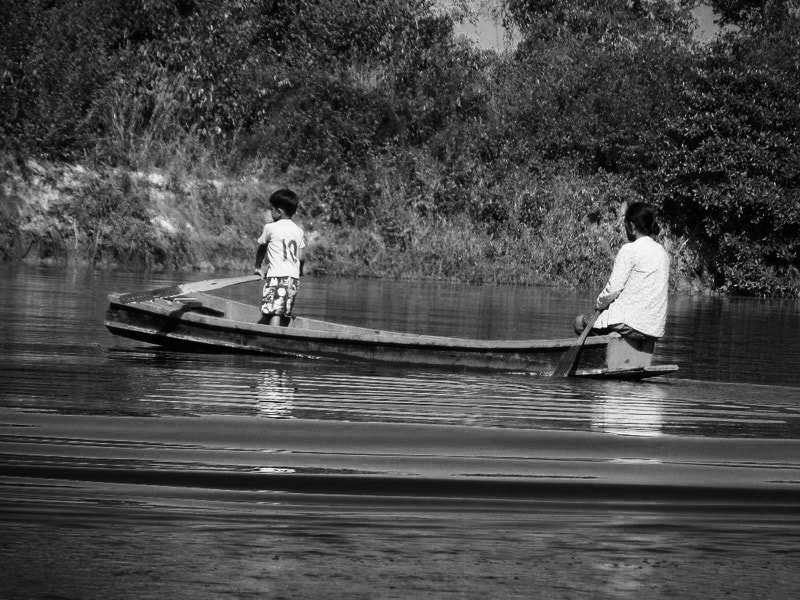 A small boat in Cambodia's Chi Phat