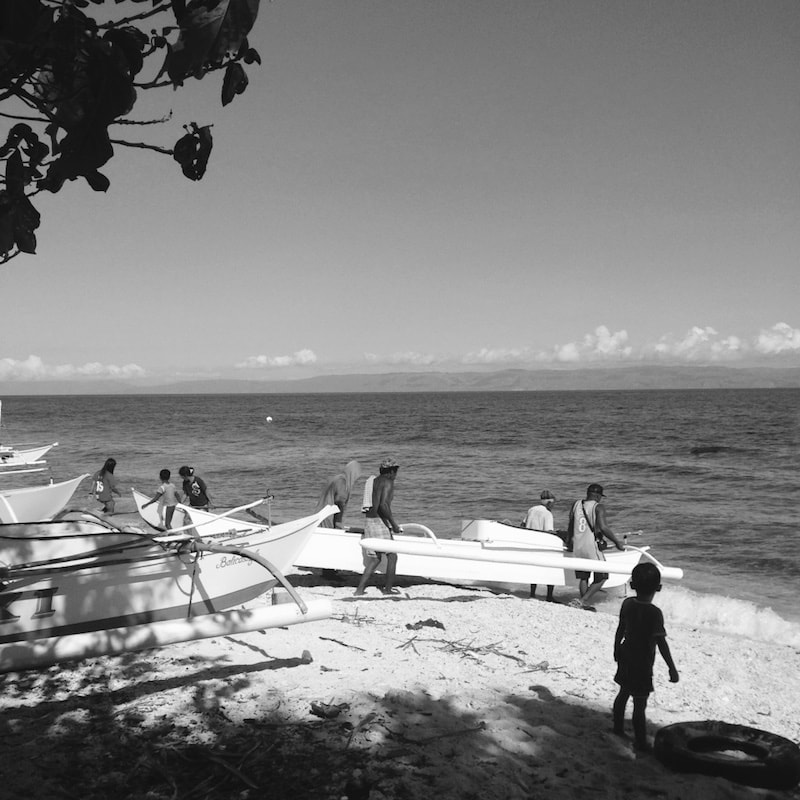 A small boat community in Balicasag Island, Philippines