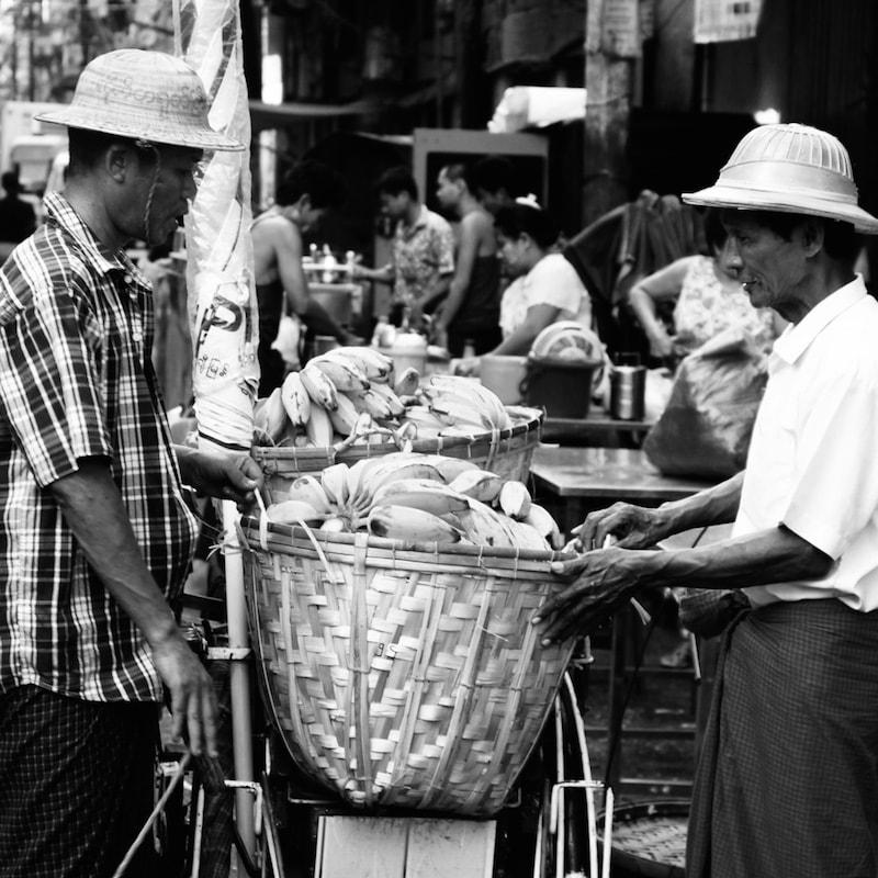 Yangon street sellers, Myanmar