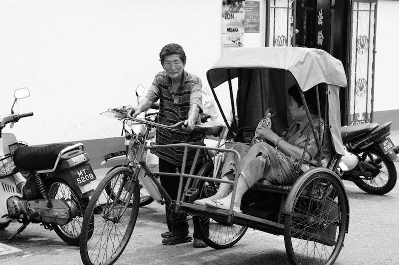 Old modes of transportation in UNESCO city Melaka, Malaysia