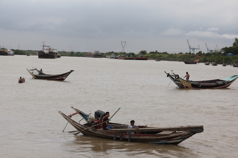 Small Yangon Boats