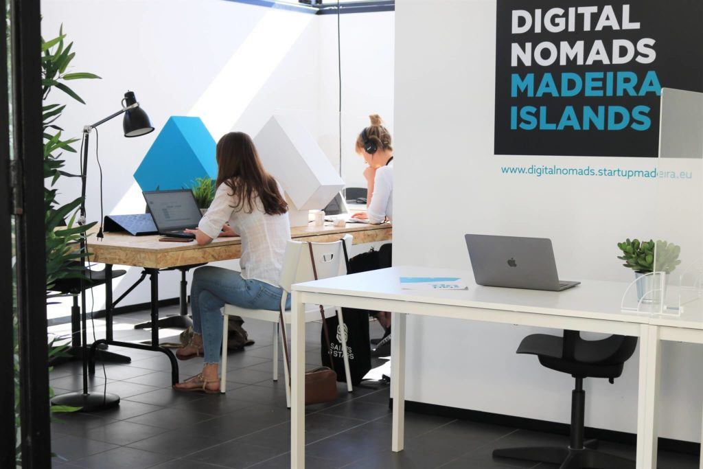Picture of digital nomads Madeira office.