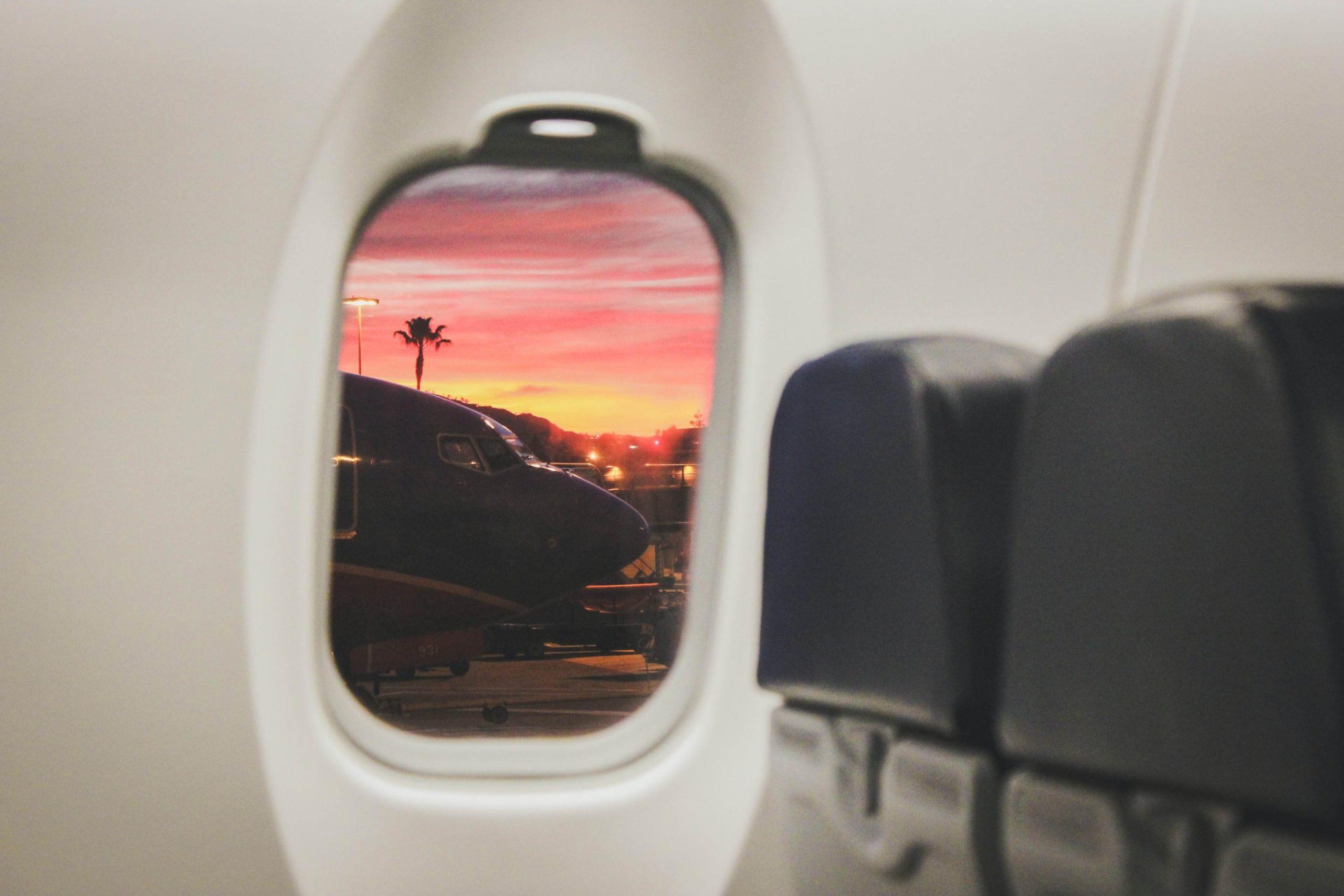 Image of an air plane window