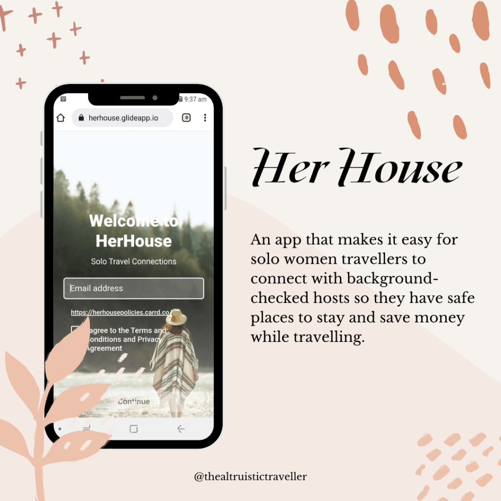 Her House feature solo female travel